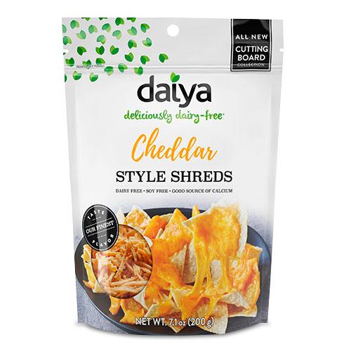 Distribuidores de comida vegana y Vegetariana. Tiras de queso Cheddar Veganas (shreds)