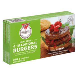 Hamburguesas tradicionales veganaselaboradas a partir de nuestra famosa proteína vegetal y aromatizado con especias tradicionales. Grueso y delicioso con un auténtico sabor, textura y diseño a la parrilla.
