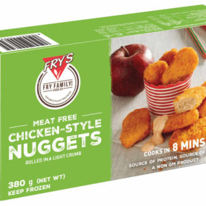 Made with selected proteins which come from grains and legumes, Fry's nuggets are coated in a crispy golden crumb to create a flavorsome snack. Chicken Style Nuggets