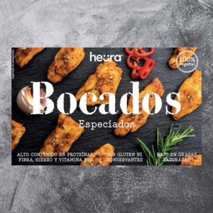 Heura Spiced Bites (180g) Heura. Snacks with a spicy touch. For those who want an intense touch with character. The hottest side of Heura ®