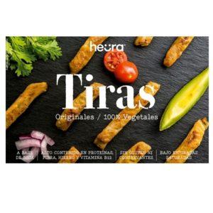 Tiras Originales Veganas. Más finitas que los bocados, pero igual de sabrosas. Perfectas para tus recetas de fajitas o para tus salteados de verduras.