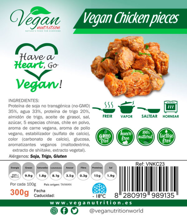 Trocitos Veganos Estilo Pollo Vegan Nutrition