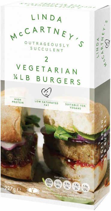 Hamburguesa Cuarto de Libra Original Veganas Clasicas Linda McCartney