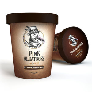 Pink Albatross Dark Chocolate Ice Cream