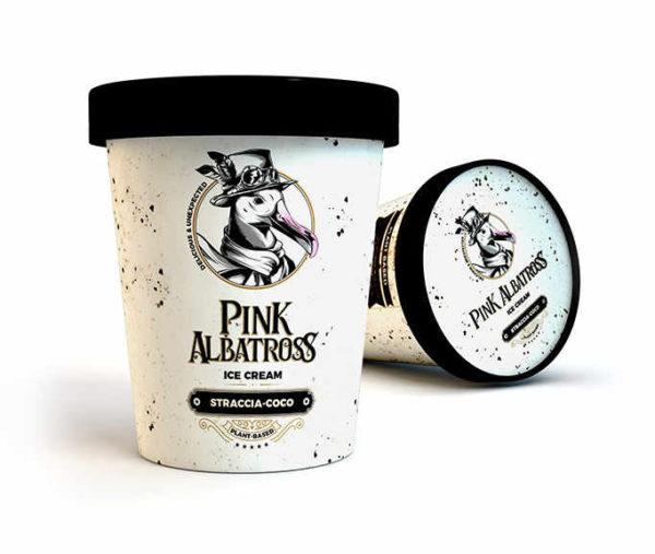 Pink Albatross Helado Straccia-coco Vegano