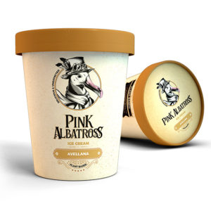 Pink Albatross Hazelnut Ice Cream