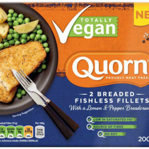 Quorn Vegan Breaded Fishless fillets (Lemon & Pepper)