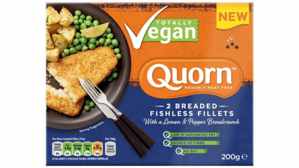 Quorn Filetes Empanados Estilo Pescado al Limón Veganos