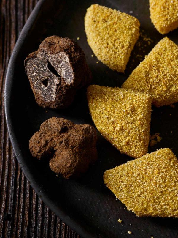 Nuggets Queso Vegano Bio - Trufa (200g). Sin leche, sin lactosa, sin soja, sin gluten. Sano, indulgente y delicioso. Perfecto para todos