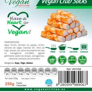 Palitos Veganos Estilo Cangrejo Vegan Nutrition